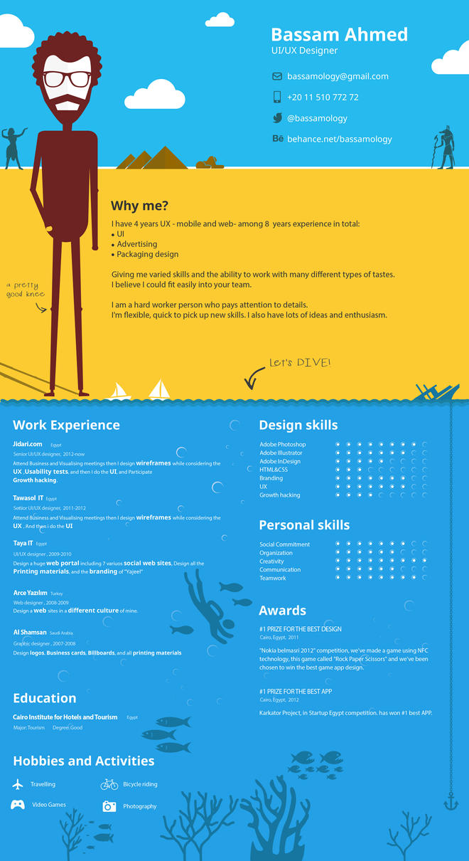 My resume -  CV by Bassamology