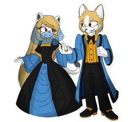 Ghostly Mobian King and Queen by SilverKeysR