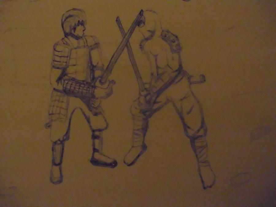 Ninja Vs Samurai Fight Samurai VS Ninja by MOJUTMNT
