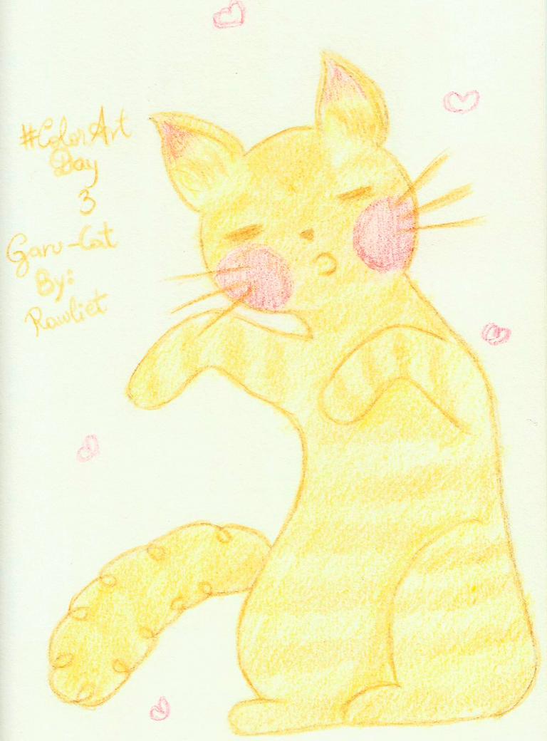 ColorArtDay 3 Cat Garu by Rawliet