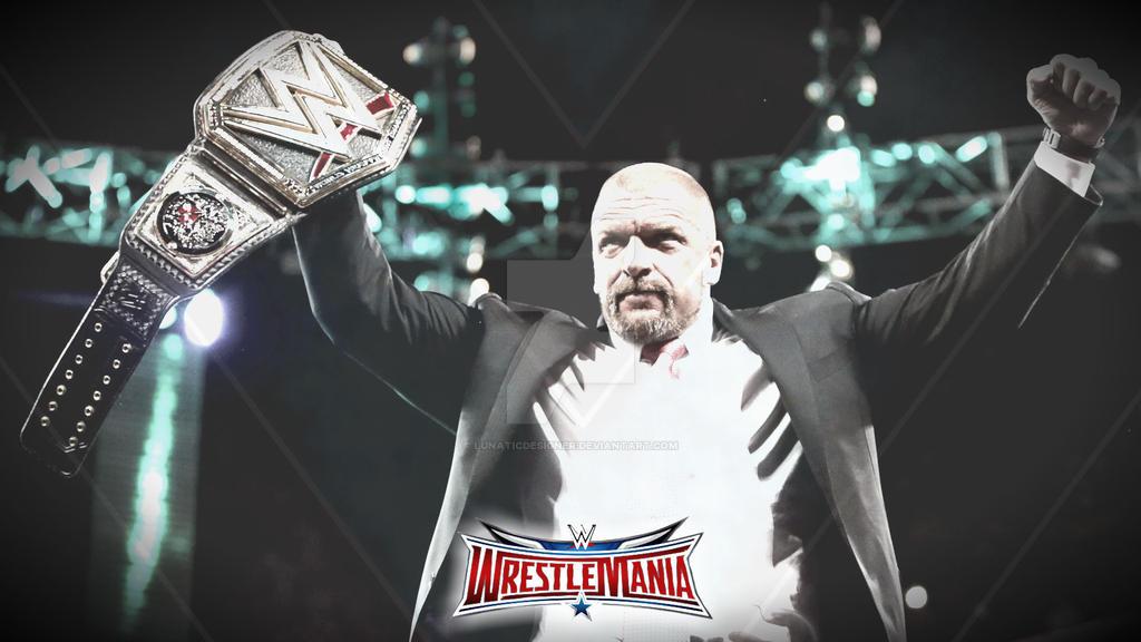 Triple H Wwe World Heavyweight Champ Wallpaper By Lunaticdesigner
