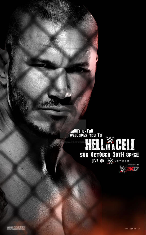 Hell in a Cell 2016 Poster by LunaticDesigner