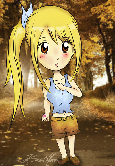 Lucy Heartfilia Chibi Version by BrenMoon