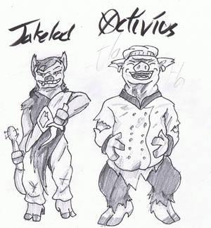 Buffalo Wizard fan art: Jakelad and Octivius