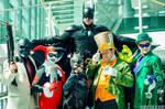 Gang of villains with Batman