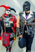 Punk Harley Quinn and Fiend Black Mask by Lady-Ha-ha
