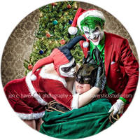 Alex Ross Christmas Joker and Harley Quinn by Lady-Ha-ha
