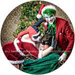 Alex Ross Christmas Joker and Harley Quinn