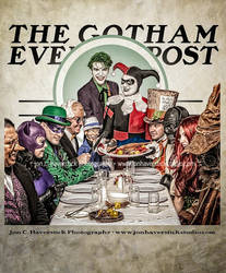 Gotham Evening Post - Bat Villains Dinner by Lady-Ha-ha