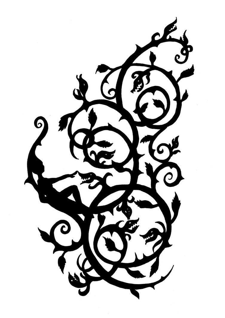 thorny ornamental tattoo by indirie on deviantart. Black Bedroom Furniture Sets. Home Design Ideas