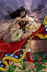 Wonder Woman at Sunset -AH.