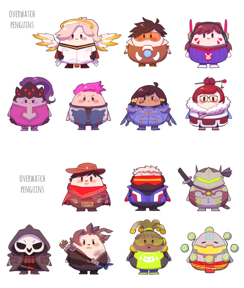 Overwatch Penguins by NINECOIN9