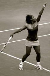 Service by... Serena Williams
