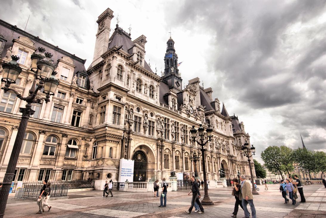 Hotel de ville de paris hdr by dantordjman on deviantart for Hotel deville paris