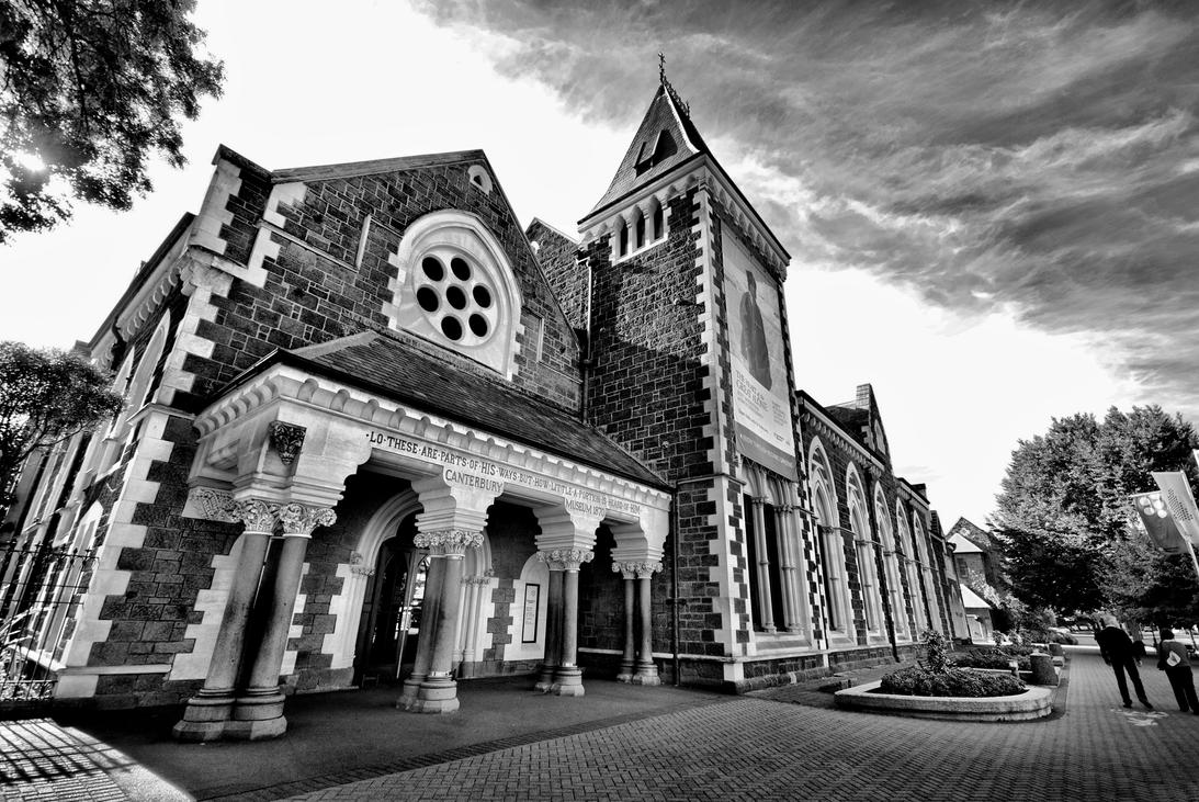 Christchurch BW HDR by