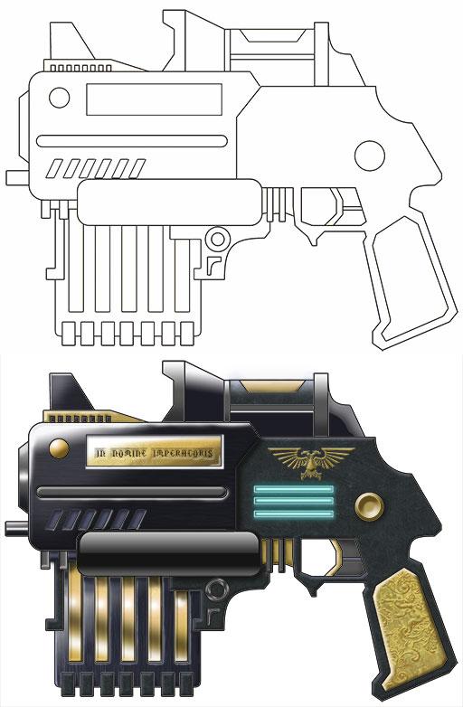 Bolter-Pistol by winterfluss