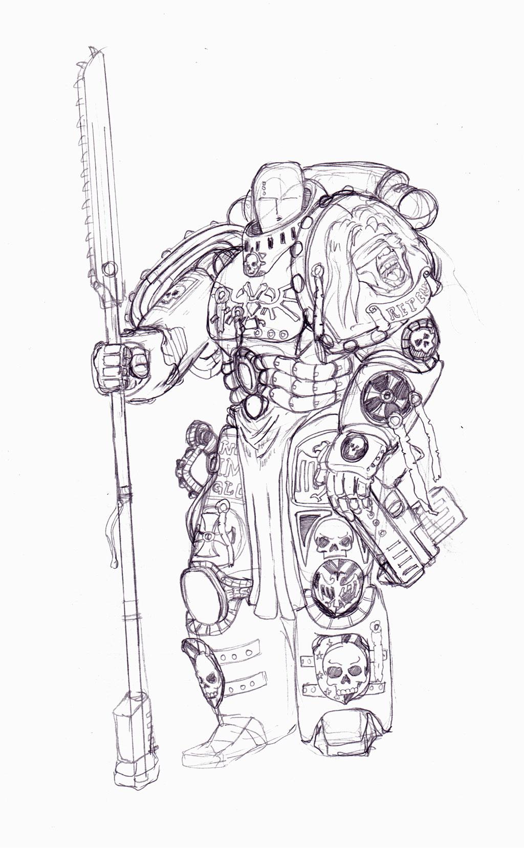 Spacemarine-Crusader by winterfluss
