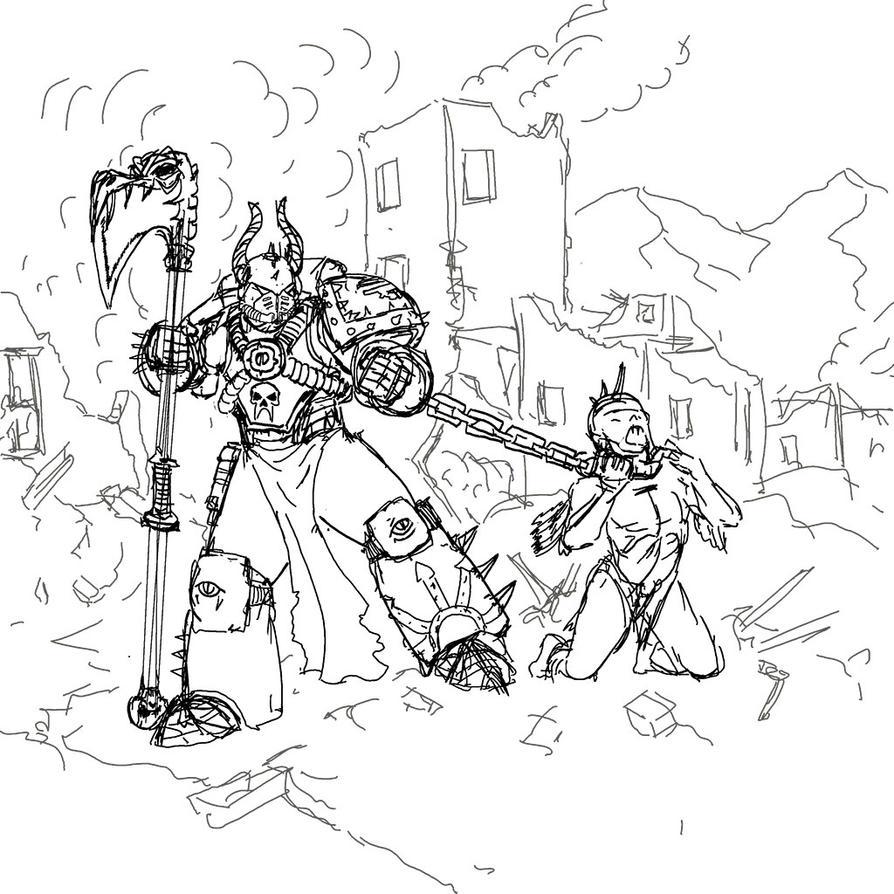 Son-Of-Horus-Sketch by winterfluss