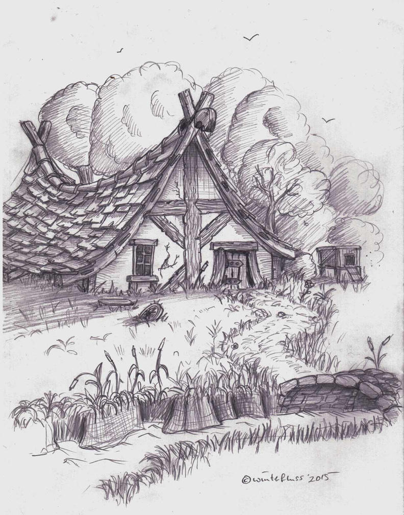 house in the woods by winterfluss