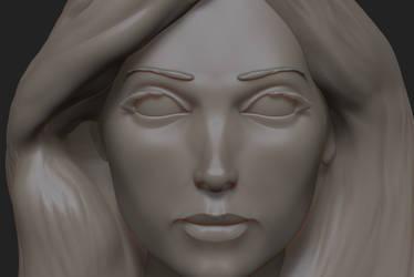 Head Study 8 Close-up by 4colorgrafix