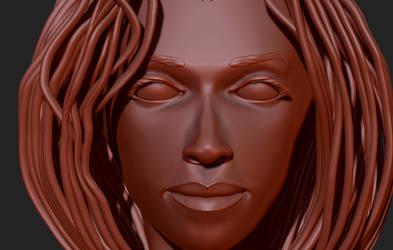 Head Study 10 Close-Up by 4colorgrafix