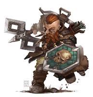 Pathfinder: Dwarf by pindurski