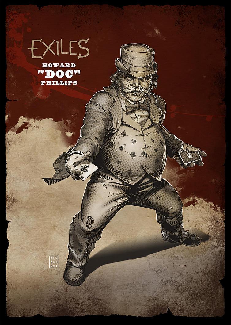 Exiles RPG: Howard Doc Phillips by pindurski