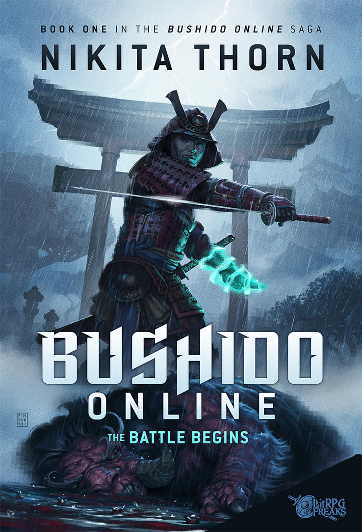 Bushido Online Book Cover Design by pindurski