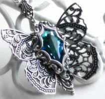 Spring of Butterflies Necklace by JuleeMClark