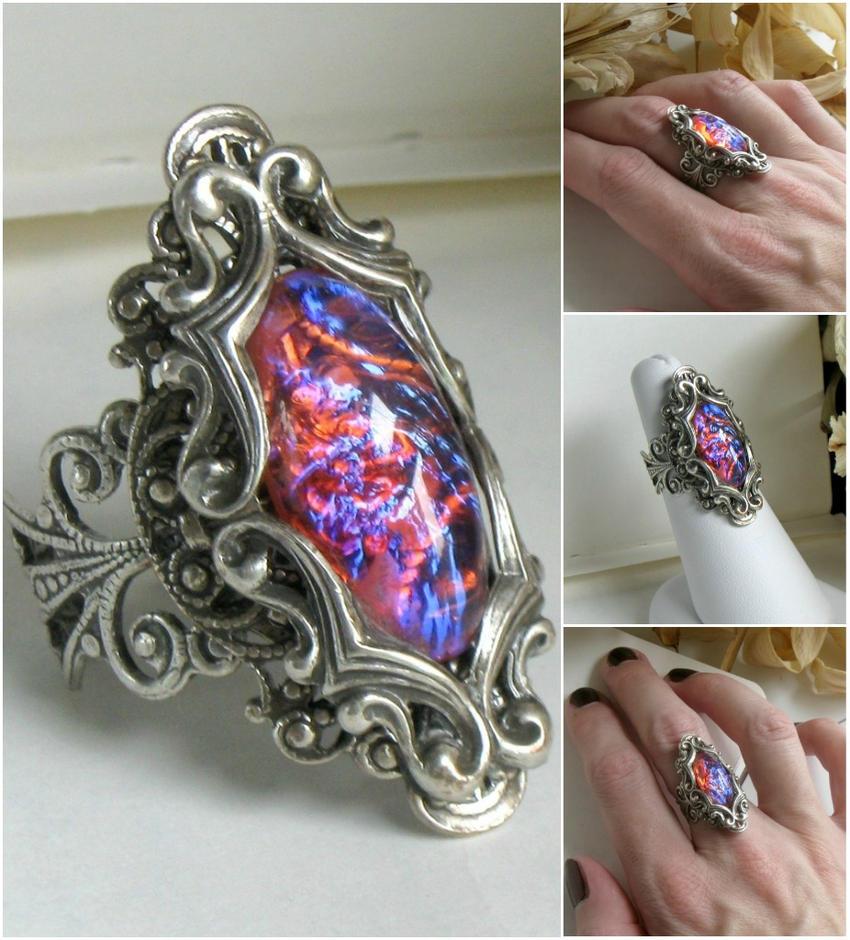 Dragons Breath Wedding Ring