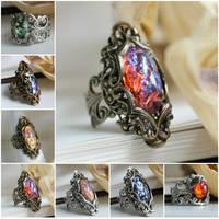 gothic rings by JuleeMClark