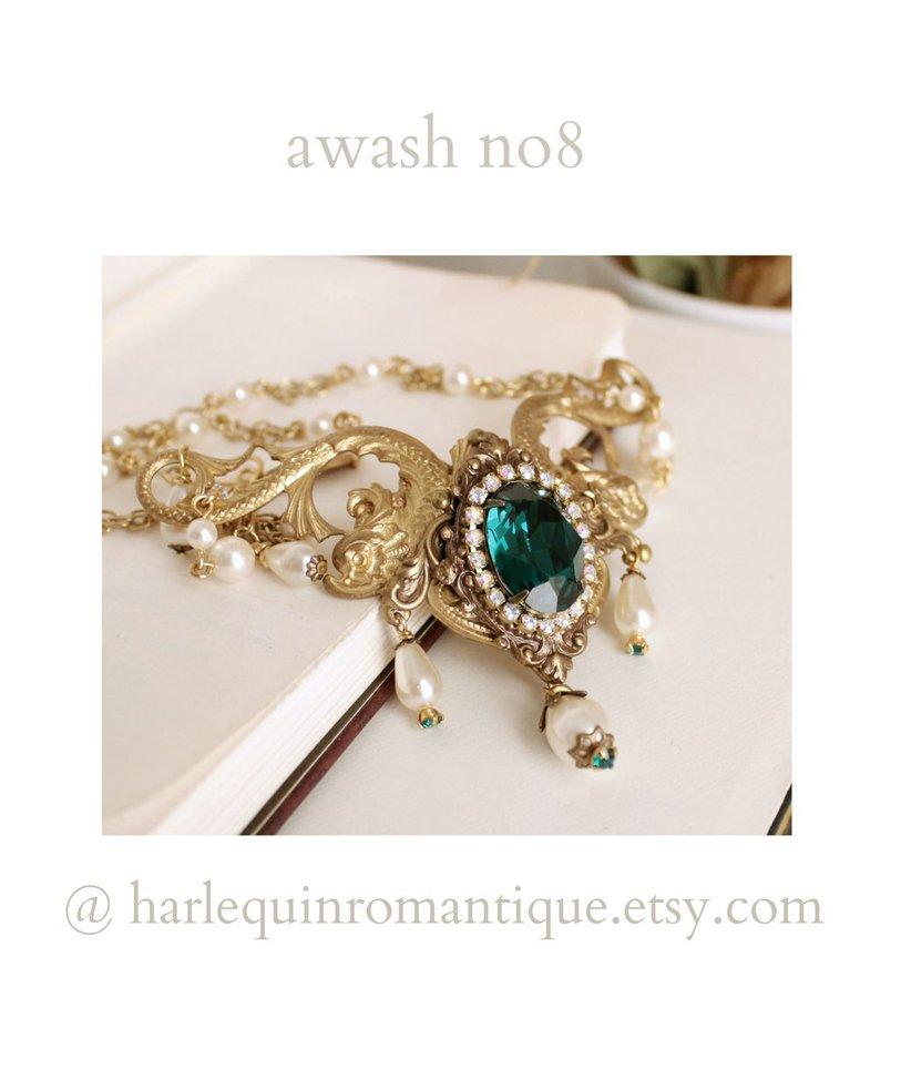 Awash Emerald Necklace by JuleeMClark