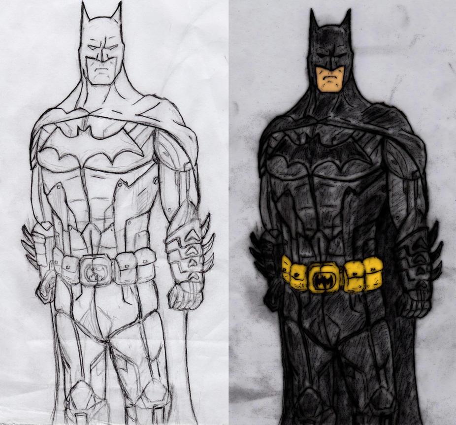 batman arkham origins new 52 batman drawing by redtarkin