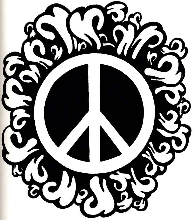 Peace logo hippiness by deeplycrashing on deviantart for Peace love happiness coloring pages