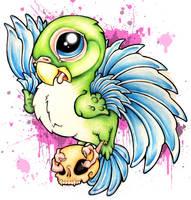 Splatter Bird by JohnnyArchaeologist