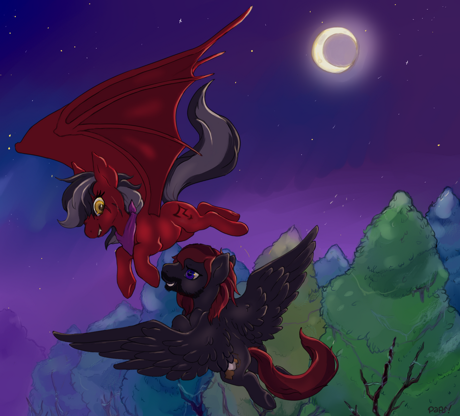 A Moonlit Race by Paper-Cities
