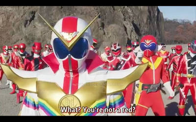 The shocking part in Sentai History.