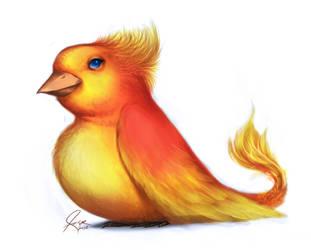Baby Phoenix by annezca