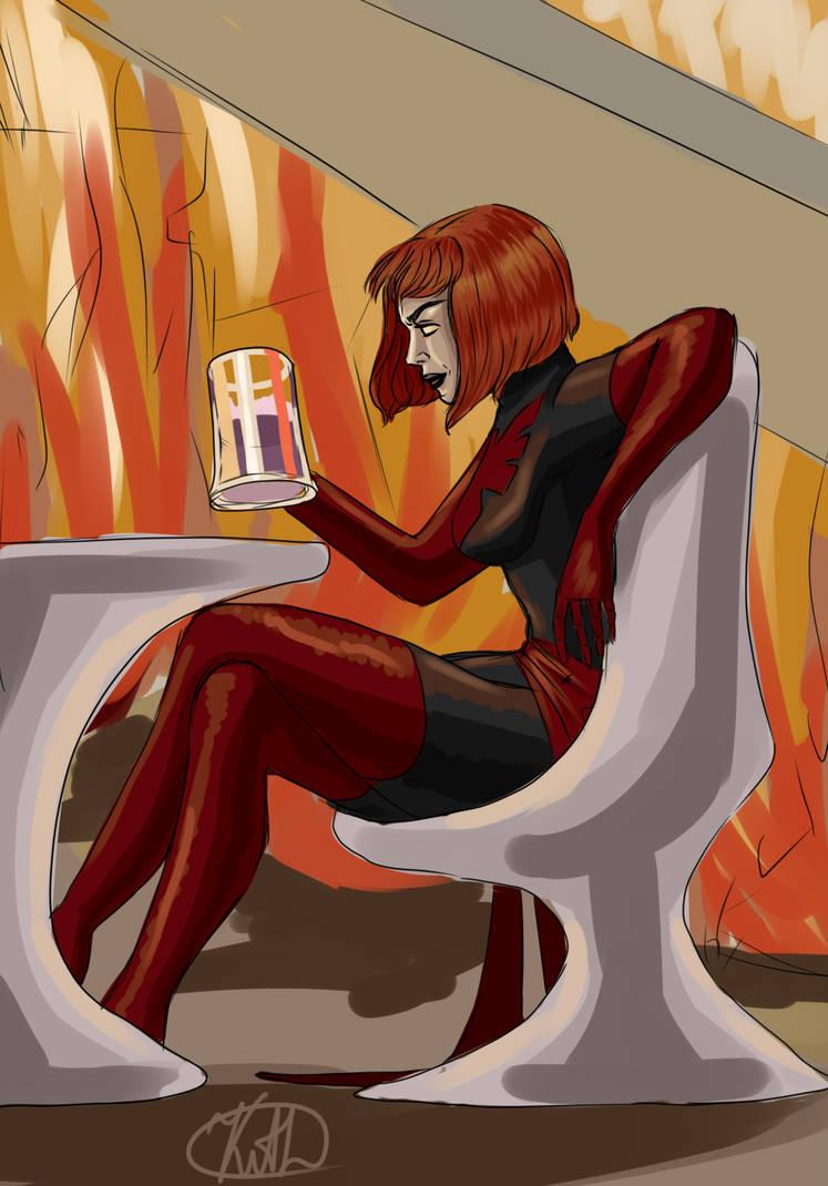 Dark Phoenix corrupts Jean's soul! by Undergrizer