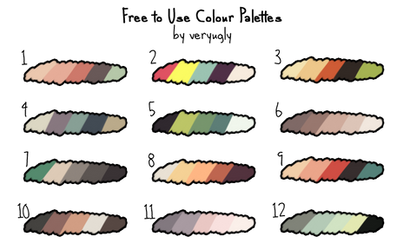 [F2U] Colour Palettes by angelpotions