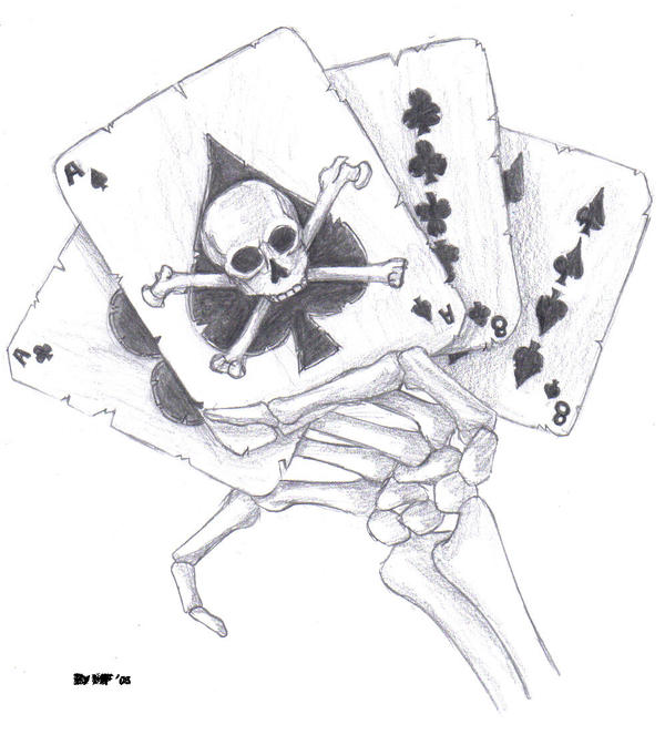aces and eights dead mans hand images drawings