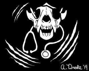 Fanart/Giftart: Doc Wolverine Pirate Flag by AJDrake