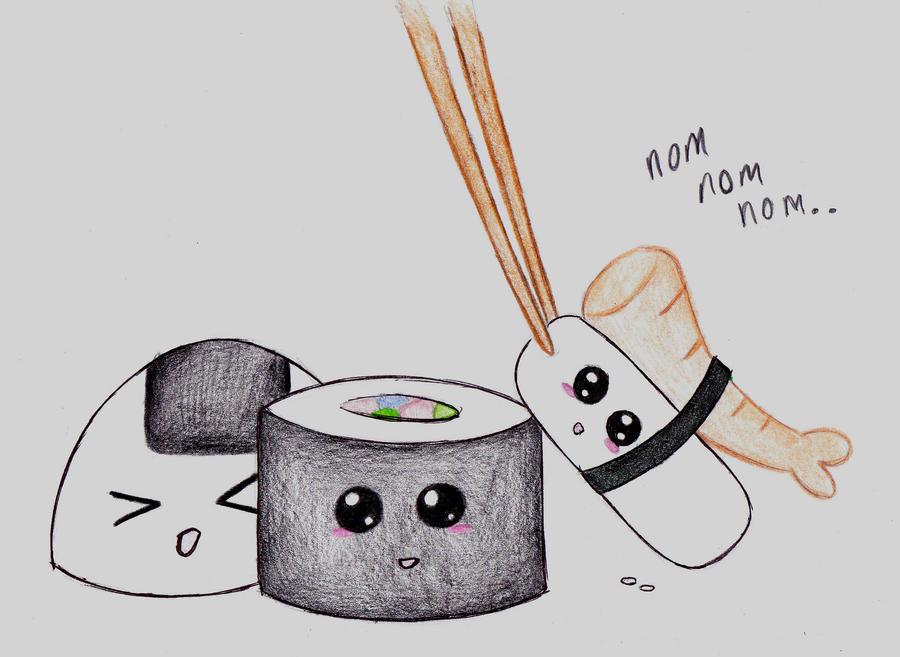 Chibi Sushiiii by xxKatherineRose