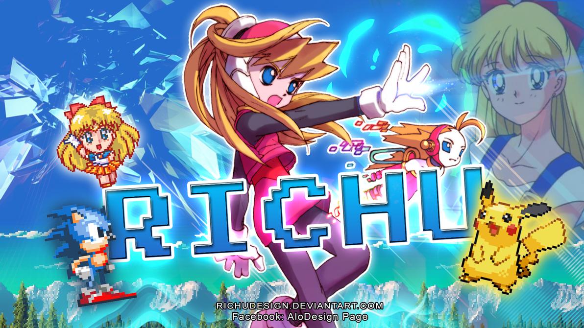 Videogame Anime Girl Banner Fantasy By RichuDesign