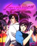 SummerCityHunterSynthwave
