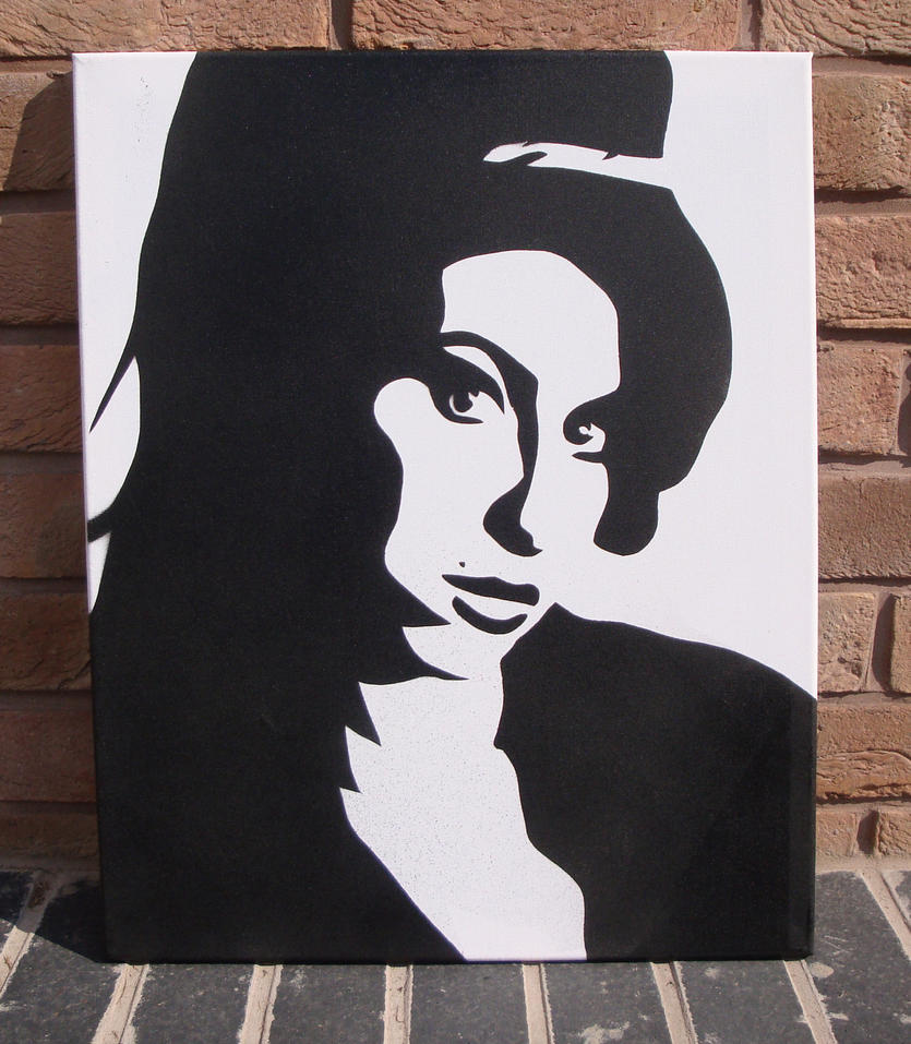 Amy winehouse stencil canvas by ramart79 on deviantart for Printable stencils for canvas painting