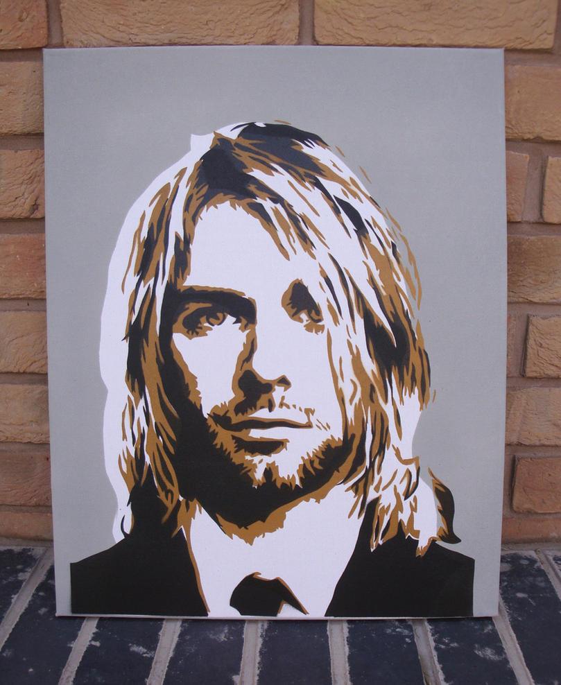 Kurt Cobain - Stencil Painting by RAMART79
