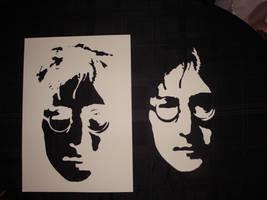 John Lennon - Cut Stencil by RAMART79