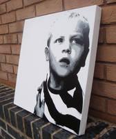 Samson Stencil on Canvas by RAMART79