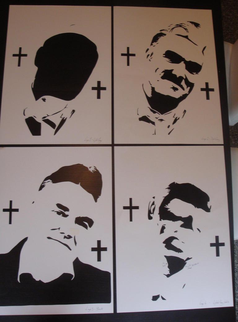 morrissey stencils ready for spray paint by ramart79 on deviantart. Black Bedroom Furniture Sets. Home Design Ideas